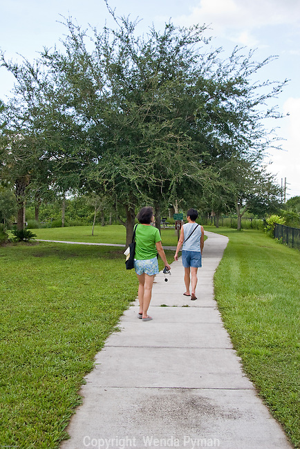 Manatee Park offers interpretive nature trails.