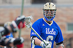 Orange, CA 03-05-17 - Derek Hankim (UCLA #6) in action during the UCLA - Champman Southern Lacrosse Conference MCLA Division 1 Men's Lacrosse game.
