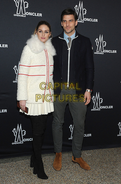 NEW YORK, NY - FEBRUARY 14: Olivia Palermo and Johannes Huebl attends the Moncler Grenoble fashion show during 2017 New York Fashion Week at The Hammerstein Ballroom on February 14, 2017 in New York City.   <br /> CAP/MPI/JP<br /> &copy;JP/MPI/Capital Pictures