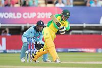 Alex Carey (Australia) whips through mid wicket during Australia vs England, ICC World Cup Semi-Final Cricket at Edgbaston Stadium on 11th July 2019