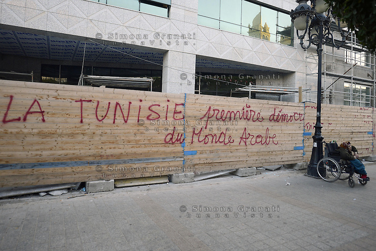 Tunisi, Gennaio 2015<br /> La Tunisia a 4 anni dalla rivoluzione che portò all'esilio il dittatore Ben Ali. <br /> Avenue Bourguiba