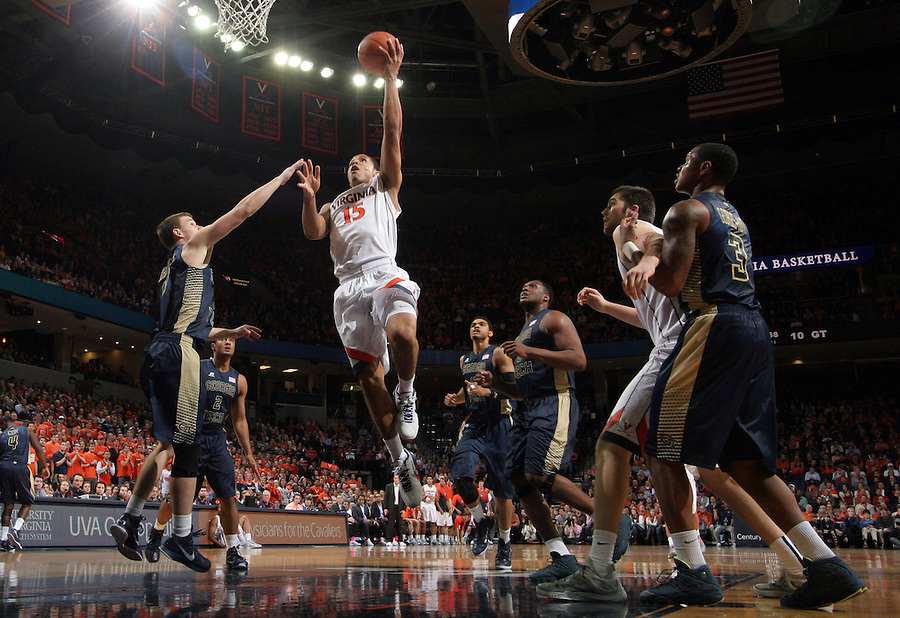 Virginia guard Malcolm Brogdon (15) during the game Jan. 22, 2015, in Charlottesville, Va. Virginia defeated Georgia Tech 57-28.