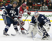 Rob O'Gara (Yale - 4), Brian Hart (Harvard - 39), Alex Lyon (Yale - 34) - The visiting Yale University Bulldogs defeated the Harvard University Crimson 2-1 (EN) on Saturday, November 15, 2014, at Bright-Landry Hockey Center in Cambridge, Massachusetts.