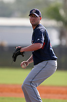 Cleveland Indians minor leaguer Travis Foley during Spring Training at the Chain of Lakes Complex on March 16, 2007 in Winter Haven, Florida.  (Mike Janes/Four Seam Images)