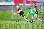 Darragh Long Austin Stacks in action against Dan O'Sullivan Saint Kierans in the Quarter Finals of the County Championship at Austin Stack Park on Sunday.