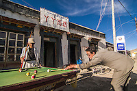 Men Playing Pool on the Street in Tingri, China