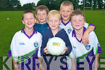 Learing GAA skills at Currow GAA Cu?l Camp last week .was back L-R  Christopher O'Sullivan and Nathan O'Callaghan.Front L-R  Aaron O'Connor, Tommy Boyle and Conor Curran