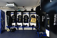 A general view in the Bath Rugby changing rooms. Heineken Champions Cup match, between Bath Rugby and Stade Toulousain on October 13, 2018 at the Recreation Ground in Bath, England. Photo by: Patrick Khachfe / Onside Images