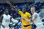 February 4, 2017:  Wyoming guard, Andrew Moemeka #2, calls for an inbound pass during the NCAA basketball game between the Wyoming Cowboys and the Air Force Academy Falcons, Clune Arena, U.S. Air Force Academy, Colorado Springs, Colorado.  Wyoming defeats Air Force 83-74.