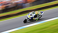 Yamaha MotoGP rider Valentino Rossi of Italy rides during the 2013 Australian Motorcycle Grand Prix in Phillip Island, Oct 20, 2013. Photo by Daniel Munoz/VIEWpress IMAGE RESTRICTED TO EDITORIAL USE ONLY- STRICTLY NO COMMERCIAL USE.