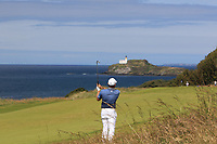 Tyrrell Hatton (ENG) on the 4th during Round 4 of the Aberdeen Standard Investments Scottish Open 2019 at The Renaissance Club, North Berwick, Scotland on Sunday 14th July 2019.<br /> Picture:  Thos Caffrey / Golffile<br /> <br /> All photos usage must carry mandatory copyright credit (© Golffile | Thos Caffrey)