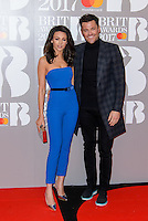 www.acepixs.com<br /> <br /> February 22 2017, London<br /> <br /> Michelle Keegan and Mark Wright arriving at The BRIT Awards 2017 at The O2 Arena on February 22, 2017 in London, England.<br /> <br /> By Line: Famous/ACE Pictures<br /> <br /> <br /> ACE Pictures Inc<br /> Tel: 6467670430<br /> Email: info@acepixs.com<br /> www.acepixs.com