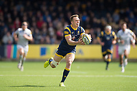 Perry Humphreys of Worcester Warriors claims the ball. Aviva Premiership match, between Worcester Warriors and Bath Rugby on April 15, 2017 at Sixways Stadium in Worcester, England. Photo by: Patrick Khachfe / Onside Images