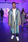 VIP guest attend the Feng Chen Wang Spring Summer 2019 collection fashion show at Industria Superstudio in New York City on July 10, 2018; during New York Fashion Week: Men's Spring Summer 2019.
