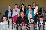 Pupils of Scoil Chriost Ri? NS, Drumnacurra, after they were confirmed at St. John's Church, Causeway, on Thursday afternoon. Pictured with Bishop Bill Murphy are teacher Regina O'Connor, Joseph and Patrice Diggins, Cormac, Anita and Theresa Leen, Vanessa and Eric Dineen and Cynthia Barrett.   Copyright Kerry's Eye 2008