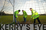 Community employment scheme workers at Ballydonoghue GAA club in north Kerry on wednesday, Pictured from left: Donal Foley, John Moran and John O'Connor.