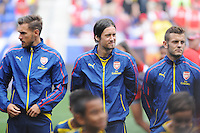 HARRISON, NJ - Saturday July 26, 2014: MLS team New York Red Bulls take on Arsenal of the Barclays Premier League in a friendly at home in Red Bull Arena.