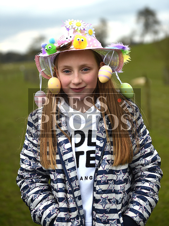 Leah Kearney at the Easter Bonnnet competition at Newgrange Farm. Photo:Colin Bell/pressphotos.ie