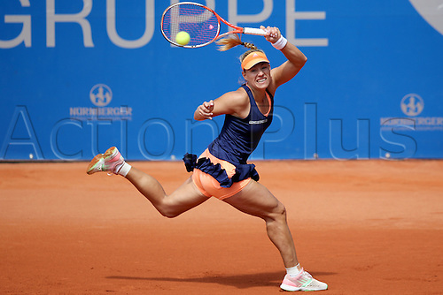 21.05.2015. Nuremberg, Germany. WTA Nuremberg Open tournament.  Angelique Kerber of Germany in action during her quarter finals match against Doi of Japan in Nuremberg, Germany, 21 May 2015.
