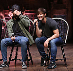 "Terrance Spencer and Thayne Jasperson during The Rockefeller Foundation and The Gilder Lehrman Institute of American History sponsored High School student #eduHam matinee performance of ""Hamilton"" Q & A at the Richard Rodgers Theatre on December 5,, 2018 in New York City."