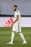 10th July 2020; Estadio Alfredo Di Stefano, Madrid, Spain; La Liga Football, Real Madrid versus Deportivo Alaves; Karim Benzema (Real Madrid)  moves foreard to take control of the penalty decision