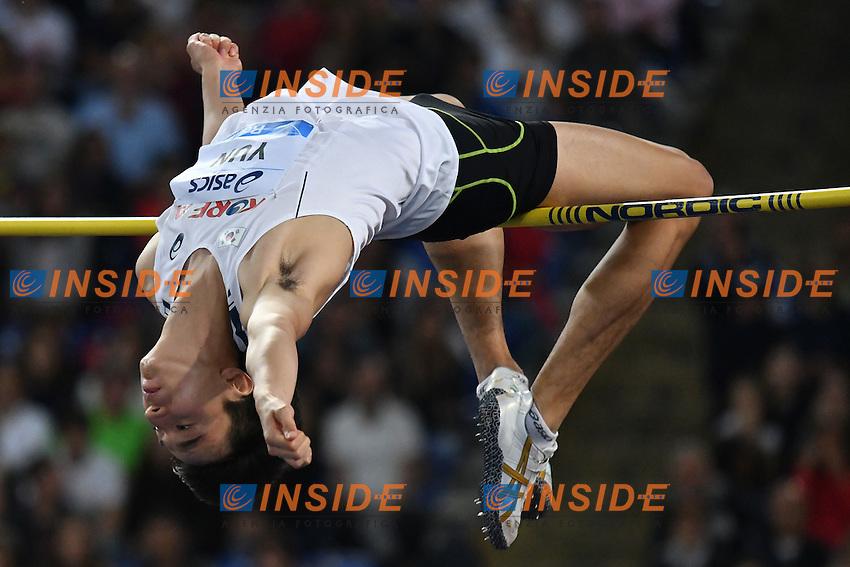 Seung-Hyun YUN KOR High Jump <br /> Roma 02-06-2016 Stadio Olimpico <br /> IAAF Diamond League Golden Gala <br /> Atletica Leggera<br /> Foto Andrea Staccioli / Insidefoto