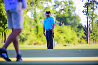 J.B. Holmes (USA) watches his birdie putt fall on 10 during round 2 of the Shell Houston Open, Golf Club of Houston, Houston, Texas, USA. 3/31/2017.<br /> Picture: Golffile | Ken Murray<br /> <br /> <br /> All photo usage must carry mandatory copyright credit (&copy; Golffile | Ken Murray)