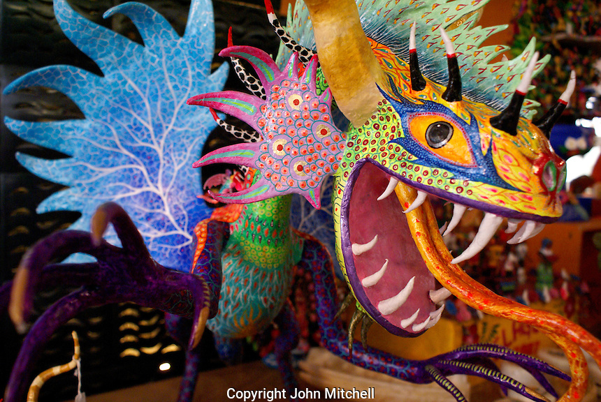 Painted dragon alebrije from Oaxaca, Mexico