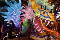 Painted dragon alebrije from Oaxaca, Mexico