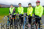 John Murray, Tony O'Callaghan, Martina Hanafin  and Jack Walsh, attending the 6th annual Jimmy Duffy Memorial Cycle in Blennerville on Saturday.