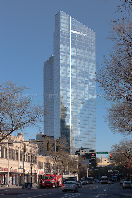 The Residences at the Ritz-Carlton, Westchester, in White Plains, New York as viewed from Mamaroneck Avenue.