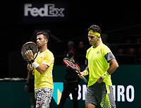 Rotterdam, The Netherlands, 17 Februari, 2018, ABNAMRO World Tennis Tournament, Ahoy, Tennis, Semi Final doubles: Horia Tecau (ROU) / Jean-Julien Rojer (NED) (L)<br /> <br /> Photo: www.tennisimages.com