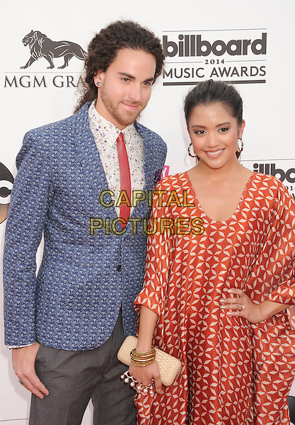 LAS VEGAS, CA- MAY 18: Singers Michael Alvarado (L) and Carissa Alvarado of Us The Duo arrive at the 2014 Billboard Music Awards at the MGM Grand Garden Arena on May 18, 2014 in Las Vegas, Nevada.<br /> CAP/ROT/TM<br /> &copy;Tony Michaels/Roth Stock/Capital Pictures