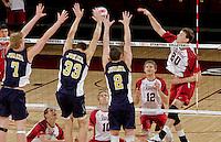 STANFORD, CA - January 13, 2012:  Jake Vandermeer during Stanford's 25-13, 20-25, 25-14, 25-14 victory over Juniata in Stanford, California on January 13, 2012.