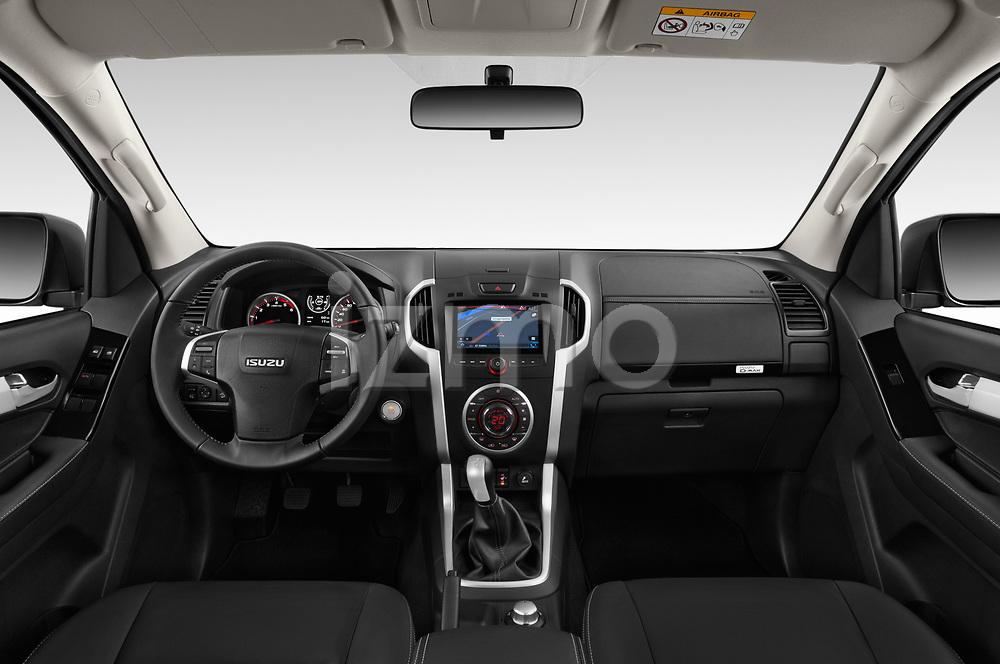 Stock photo of straight dashboard view of 2019 Isuzu D-Max LSX 5 Door Pick-up Dashboard