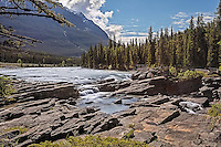 Fine Art Landscape Photograph of Athabasca Falls, located in Jasper Alberta, Canada. The Athabasca Falls are among the most powerful and breathtaking falls in the Rocky Mountains.