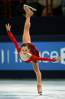 November 18, 2005; Paris, France; Figure skating star SASHA COHEN of USA skates to silver in ladies figure skating at Trophee Eric Bompard, ISU Paris Grand Prix competition.  Cohen is one of the favorites for medals in ladies at the Torino 2006 Olympics.<br />