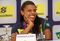 FErnada Garay jogadoras da seleção brasileira feminina de vôlei, durante entrevista coletiva nesta SEGUNDA-FEIRA (13)  no Hotel Marriot Guarulhos.FOTO ALE VIANNA/BRAZIL PHOTO PRESS