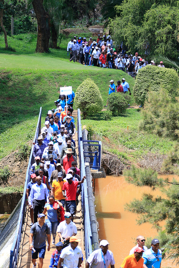 Spectators during the final round of the Barclays Kenya Open played at Muthaiga Golf Club, Nairobi, Kenya 22nd - 25th March 2018 (Picture Credit / Phil Inglis) 22/03/2018<br /> <br /> <br /> All photo usage must carry mandatory copyright credit (&copy; Golffile | Phil Inglis)