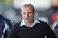 Newport County manager Warren Feeney ahead of the Sky Bet League 2 match between Newport County and Notts County at Rodney Parade, Newport, Wales on 30 April 2016. Photo by Mark  Hawkins / PRiME Media Images.