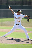 Josh Bowman - Oakland Athletics - 2010 Instructional League.Photo by:  Bill Mitchell/Four Seam Images..