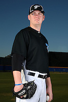 March 1, 2010:  Pitcher Rommie Lewis (66) of the Toronto Blue Jays poses for a photo during media day at Englebert Complex in Dunedin, FL.  Photo By Mike Janes/Four Seam Images