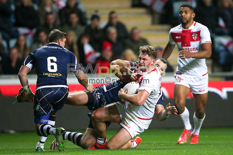 Picture by Alex Whitehead/SWpix.com - 05/11/16 - Rugby League - 2016 Ladbrokes Four Nations - England v Scotland - Ricoh Arena, Coventry, England - England's Elliott Whitehead.