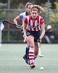 AMSTELVEEN - Julia Verschoor (HDM). Hoofdklasse competitie dames, Hurley-HDM (2-0) . FOTO KOEN SUYK