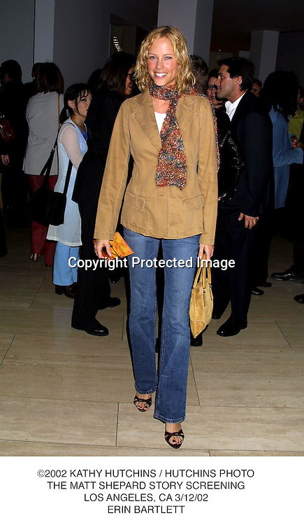 ©2002 KATHY HUTCHINS / HUTCHINS PHOTO.THE MATT SHEPARD STORY SCREENING.LOS ANGELES, CA 3/12/02.ERIN BARTLETT
