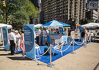 A promotional event for IBM Blueworks collaborative cloud-based business solution in Flatiron Plaza in New York on Wednesday, June 15, 2016. (© Richard B. Levine)