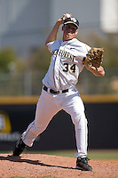 Joel Ernst #34 of the Wake Forest Demon Deacons in action versus the Virginia Cavaliers at Wake Forest Baseball Park March 8, 2009 in Winston-Salem, NC. (Photo by Brian Westerholt / Four Seam Images)