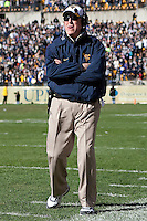 WVU head coach Bill Stewart. The WVU Mountaineers defeated the Pitt Panthers 35-10 at Heinz Field, Pittsburgh, Pennsylvania on November 26, 2010.