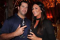 NWA Democrat-Gazette/CARIN SCHOPPMEYER Matthew Dillard and Kelli Glades enjoy Winetopia.