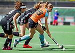 AMSTELVEEN  -  Fieke Hoff (Gro)  . Hoofdklasse hockey dames ,competitie, dames, Amsterdam-Groningen (9-0) .     COPYRIGHT KOEN SUYK
